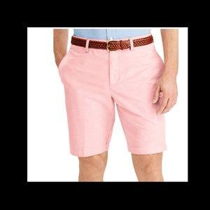 "Chaps Mens Flat Front 10"" Oxford Casual Shorts U28"
